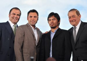 "Press Conference for ""The Dream Match: Oscar De La Hoya vs. Manny Pacquiao"""
